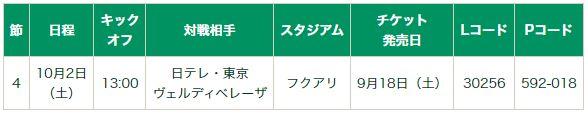 2021‐22 Yogibo WE リーグ第4節 10月2日(土) 日テレ・東京ヴェルディベレーザ戦 ホームゲームチケットの発売について